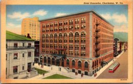 West Virginia Charleston Hotel Kanawha Curteich - Charleston