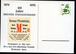 Bund PP69 C2/002 BREMEN 100 J. STRASSENBAHN 1976  NGK 6,00 € - Cartoline Private - Nuovi