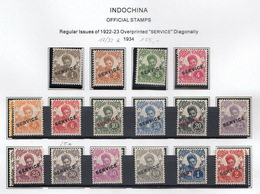 Indochina 1934 Mi 17 – 34 - Indochina (1889-1945)