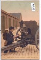 MILITARIA- ARMEE BELGE- ARTILLERIE DE CAMPAGNE- ARTILLEUR- TENUE DE ROUTE - Regimenten
