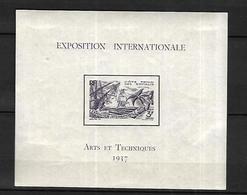 Cote Française Des Somalis 1937       Cat Yt  Feuillet  N° 1 N* Hors Timbre - Nuovi