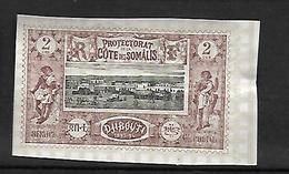 Cote Française Des Somalis 1900     Cat Yt  N° 7 A N** MNH  Papier épais - Côte Française Des Somalis (1894-1967)