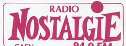 AUTOCOLLANT    RADIO NOSTALGIE CAEN.... - Autocollants