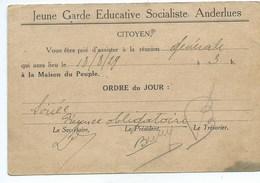 Anderlues Jeune Garde Educative Socialiste - Anderlues