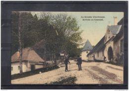 3837  ARRIVEE AU COUVENT .  GRANDE CHARTREUSE . J. G. EDIT. VOIRON .   . 2 SCANS . - Chartreuse