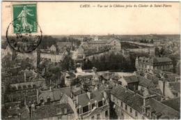 5THX 57 CPA - CAEN - VUE SUR LE CHATEAU PRISE DU CLOCHER DE SAINT PIERRE - Caen