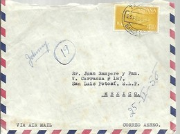 CARTA 1957  TARRASA A MEJICO  FRANQUEO INTERESANTE - 1951-60 Briefe U. Dokumente