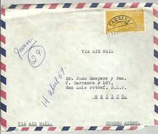 CARTA 1959  TARRASA A MEJICO  FRANQUEO INTERESANTE - 1951-60 Briefe U. Dokumente