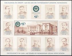 ROMANIA, 2019, EXCELLENCE IN LAW, Buildings, Lawyers, University, Souvenir Sheet, MNH (**); LPMP 2263a - 1948-.... Repúblicas