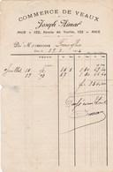 Facture De Nice (06) - 19 Juillet 1914 - Commerce De Veaux J. Aimar - Négociant En Bestiaux - Maquignon - Agriculture