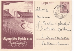 Ganzsache Olypmische Spiele 1936 In Die Schweiz - P262 - Alemania