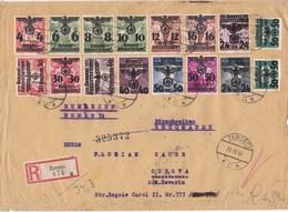 Generalgouvernement (GG): Einschreiben Zamosc Nach Rumänien - Besetzungen 1938-45