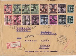 Generalgouvernement (GG): Einschreiben Zamosc Nach Rumänien - Ocupación 1938 – 45