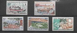 Cote Française Des Somalis 1964 -66  Voiliers   Cat Yt  N°  320 à 324  N** MNH - Französich-Somaliküste (1894-1967)
