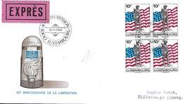 Luxembourg  -  FDC   12.9.1984  -  Lettre Expres  -  40e Anniversaire De La Liberation - FDC