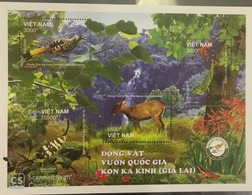 Viet Nam Vietnam MNH Perf Sheetet 2018 : Animals Of Kon Ka Kinh National Park / Bird / Reptile / Insect (Ms1097) - Vietnam