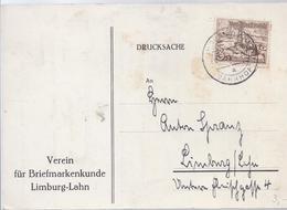 AK-23619 -   Frankatur  Einladung  Verein Für Briefmarkenkunde  Limburg Lahn - Sello Particular