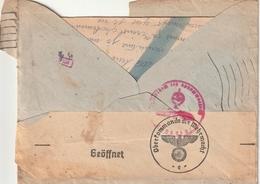 Rare Lettre D'un STO  Dans Enveloppe Ouverture Par Censure Avec Cachets - 1939-45