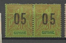 GUYANE  N° 68A Tenant à Normale NEUF*  CHARNIERE / MH - Nuovi