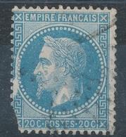 N°29 VARIETE POSITION AU VERSO - 1863-1870 Napoléon III Lauré