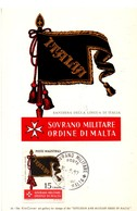 Sovrano Militare Ordine Di Malta 1957 - Italia - Carte Maximum - Malte (Ordre De)