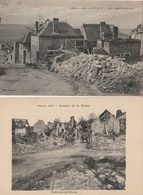 CHATILLON Sur MARNE - 2 CPA : Ruines De Guerre 1918 - Châtillon-sur-Marne