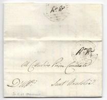 REPUBBLICA ROMANA - DA FABRIANO A SANT'ANATOLIA - 30.4.1849. - ...-1850 Préphilatélie
