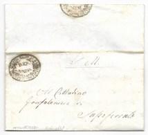 REPUBBLICA ROMANA - DA SASSOFERRATO PER CITTA' - 5.6.1849. - ...-1850 Préphilatélie