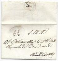 REPUBBLICA ROMANA - DA ROSORA A MONTECAROTTO - 1.4.1849. - ...-1850 Préphilatélie