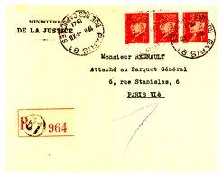 PNEUMATIQUE RECOMMANDE PARIS 81 R CAPUCINES ENV 1941 ENVELOPPE OUVERTE - Storia Postale