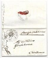 REPUBBLICA ROMANA - DA CIVITANOVA PER CITTA' - 25.4.1849. - ...-1850 Préphilatélie