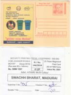 Packing Slip 'Ban Plastic' Segeregate Waste, Save Environment, Tomorrow World Homi Bhabha Physics Energy Meghdoot - Umweltverschmutzung