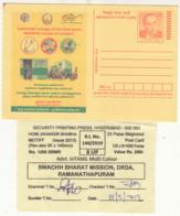 Pack Slip Women Tiolet 'Stop Plastic Bag,' Save Environment / Pollution, Map, Tree,  Homi Bhabha Physics Energy Meghdoot - Pollution