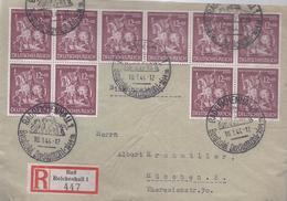 AK-23640 -    Einschreiben Frankatur  Bad Reichenhall Nach München  Vom Lo 1.1944 - Sello Particular