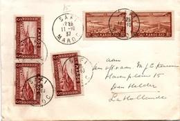 Safi Maroc 1937 - Lettre Dutch Navy - Cdt Hr Ms Hertog Hendrik - Maroc (1891-1956)