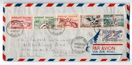 Paris 1953 - FDC Sports : Natation Escrime Aviron équitation Cross Athlétisme Canoé - FDC