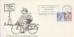 """Env. De """"Périgueux RP - 24, Dordogne"""" Du 23-01-1984, """"Paques Cyclotouristes"""" Sur YT 2290 - Mechanical Postmarks (Advertisement)"""