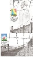 2 Cartes: Libération Des Camps De Concentration 50e Anniversaire  15.05.1995 - Cartoline Maximum