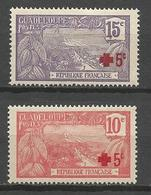 GUADELOUPE  N° 75 Et 76 NEUF*  CHARNIERE / MH - Guadeloupe (1884-1947)