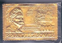 Gabon PA 41 Albert Schweitzer 1000F N** MNH Sur Feuille Or - Gabon (1960-...)