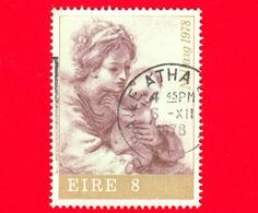 IRLANDA - Eire - Usato - 1978 - Natale - La Vergine E Il Bambino (Guercino) - 8 - Usati