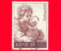 IRLANDA - Eire - Usato - 1978 - Natale - La Vergine E Il Bambino (Guercino) - 10 - Usati