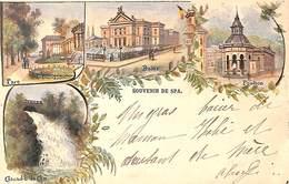 Souvenir De Spa - Litho Précurseur Colorisée Papeterie G. Engel 1899) - Spa