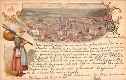 Souvenir De Spa - Litho Précurseur Colorisée J. Piette 1899 - Spa