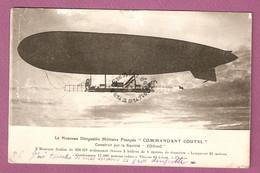 """Cpa Le Nouveau Dirigeable Militaire Francais """" Commandant Coutel"""" Construit Par La Societe Zodiac - éditeur ELD - Weltkrieg 1914-18"""