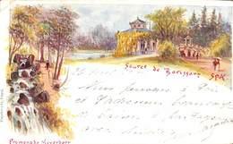 Spa - Source De Barissart - Litho Précurseur Colorisée Papeterie Engel 1900 - Spa