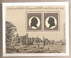 DDR - Foglietto Nuovo Michel Block 66: Goethe & Schiller Awards 1980-1984 - 1982 *G - Nuovi