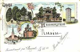 GRUSS Aus LUZERN Precurseur 1897 RV Voir Dos Timbre 4 Kon Caactère Cyrillique - LU Lucerne
