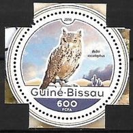 GUINEA BISSAU - MNH - 2016  -   Pharaoh Eagle-Owl  -  Bubo Ascalaphus - Vögel