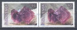 Slovenia Slovenie Slowenien 2001 Mint MNH **: Mi 345-6; Minerals Fossils; Fluorit; Stamps Pair - Geologie